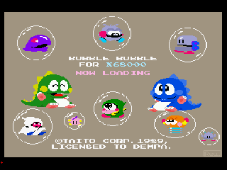 Screenshot Thumbnail / Media File 1 for Bubble Bobble (1989)(Dempa)[a]